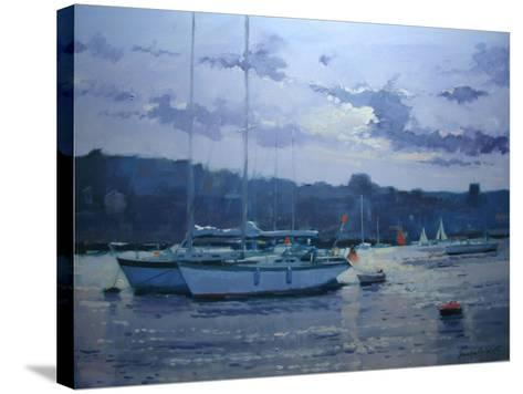 Moored Yachts, Late Afternoon-Jennifer Wright-Stretched Canvas Print