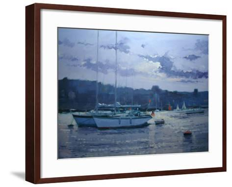 Moored Yachts, Late Afternoon-Jennifer Wright-Framed Art Print