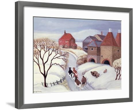 Driving Cows Home in the Snow-Margaret Loxton-Framed Art Print