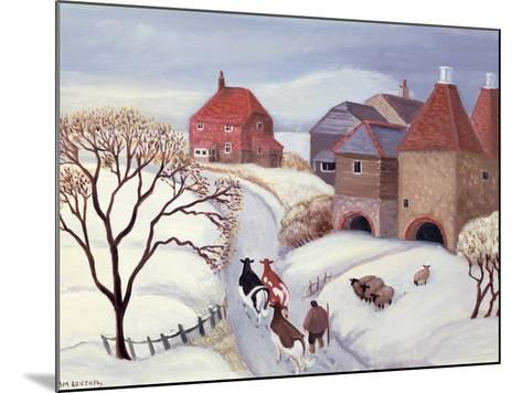 Driving Cows Home in the Snow-Margaret Loxton-Mounted Giclee Print