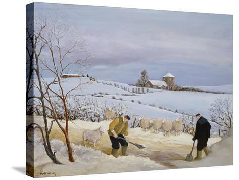 Clearing the Snow-Margaret Loxton-Stretched Canvas Print
