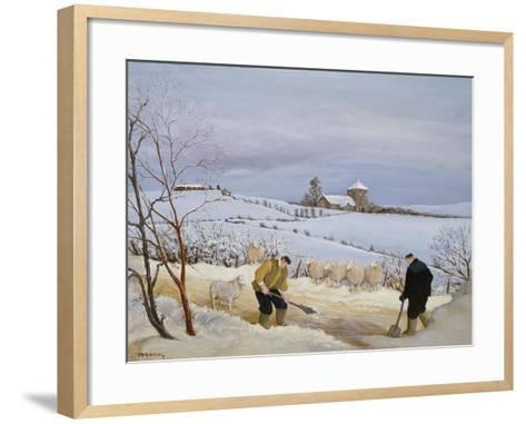 Clearing the Snow-Margaret Loxton-Framed Art Print