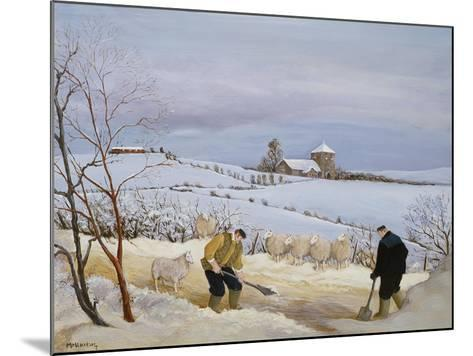 Clearing the Snow-Margaret Loxton-Mounted Giclee Print