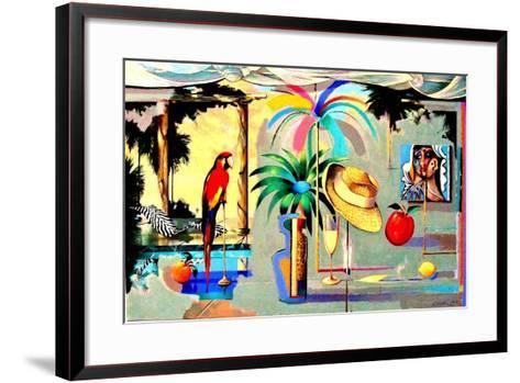 Entertaining the Recluse in the Circus of Dreams-Andrew Hewkin-Framed Art Print