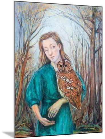 Girl with Owl, 2012-Silvia Pastore-Mounted Giclee Print