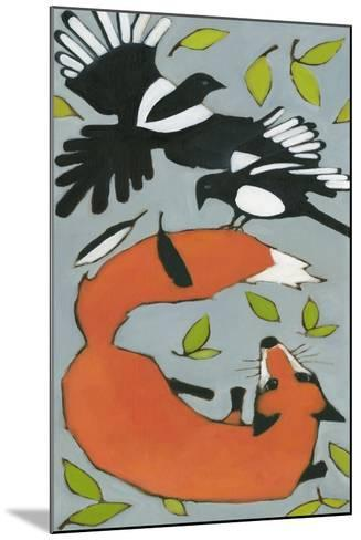 Magpies and Fox, 2013-Megan Moore-Mounted Giclee Print