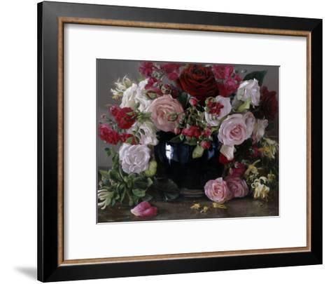 No 404, Roses Et Chèvrefeuille, 2013-Kira Weber-Framed Art Print