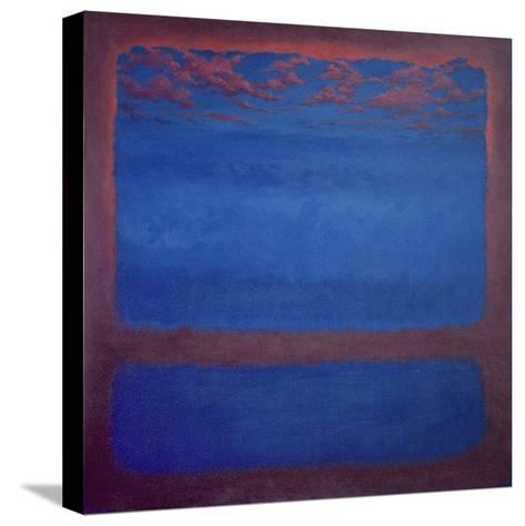 Ultramarine, 2001 Abstract Blue-Lee Campbell-Stretched Canvas Print