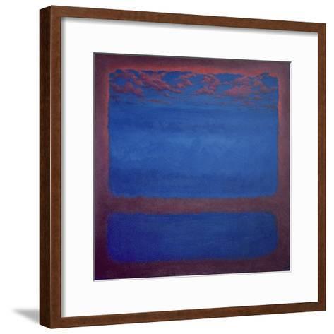 Ultramarine, 2001 Abstract Blue-Lee Campbell-Framed Art Print