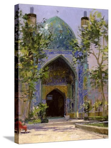 Chanbagh Madrasses, Isfahan-Bob Brown-Stretched Canvas Print