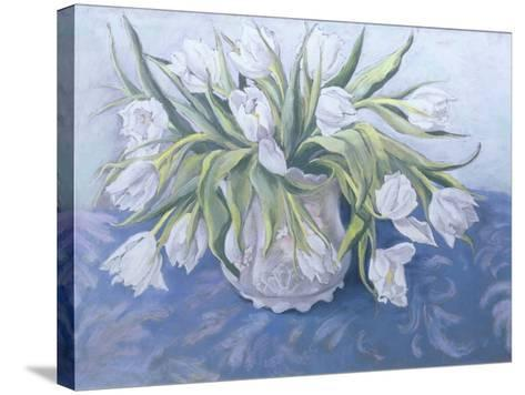White Tulips-Cristiana Angelini-Stretched Canvas Print