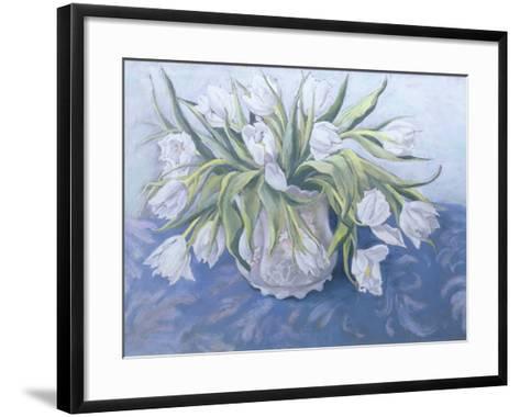 White Tulips-Cristiana Angelini-Framed Art Print