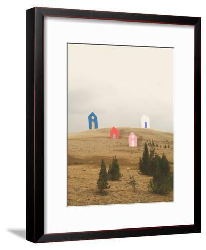Cottages on Big Horn-Danielle Kroll-Framed Art Print
