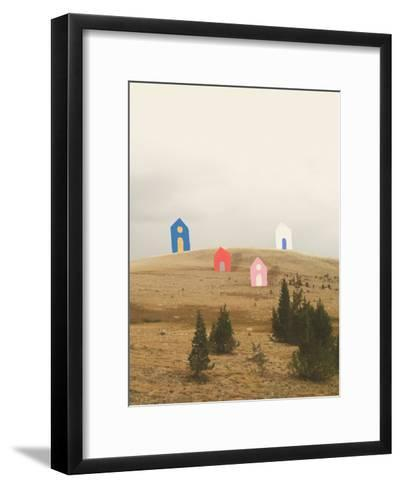 Cottages on Big Horn-Danielle Kroll-Framed Art Print