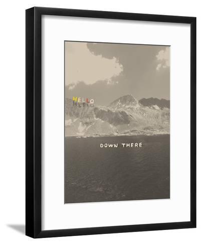 Hello Down There-Danielle Kroll-Framed Art Print