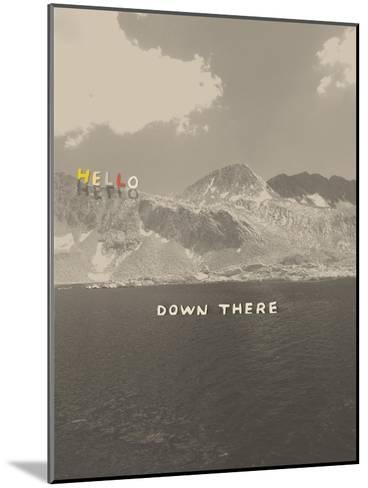 Hello Down There-Danielle Kroll-Mounted Giclee Print