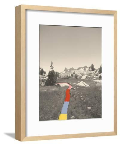 Technicolor Trail-Danielle Kroll-Framed Art Print