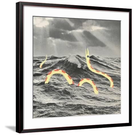 Suspicious Snake-Danielle Kroll-Framed Art Print