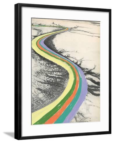 Rainbow Road-Danielle Kroll-Framed Art Print