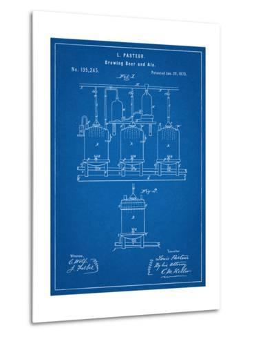 Brewing Beer Patent--Metal Print