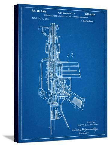 M-16 Rifle Patent--Stretched Canvas Print