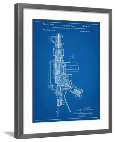 M-16 Rifle Patent--Framed Art Print