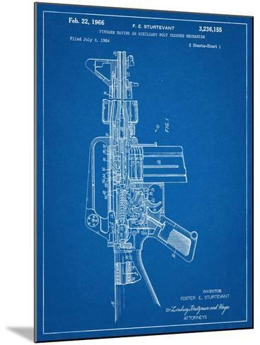 M-16 Rifle Patent--Mounted Art Print