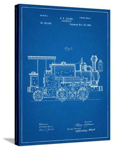Train Locomotive Patent--Stretched Canvas Print