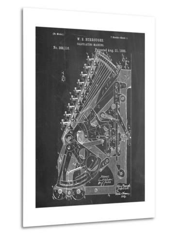 Vintage 1888 Calculator Patent--Metal Print