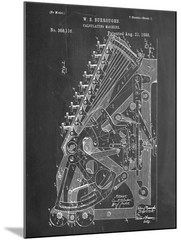 Vintage 1888 Calculator Patent--Mounted Art Print
