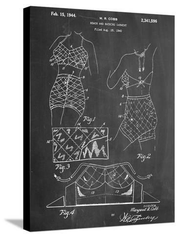 Vintage Bathing Suit Patent 1940--Stretched Canvas Print