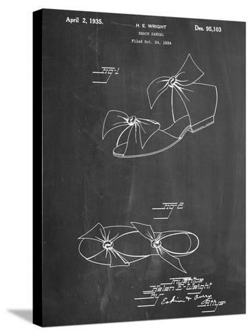 Vintage Beach Sandal 1934 Patent--Stretched Canvas Print