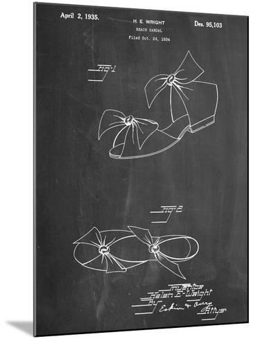 Vintage Beach Sandal 1934 Patent--Mounted Art Print