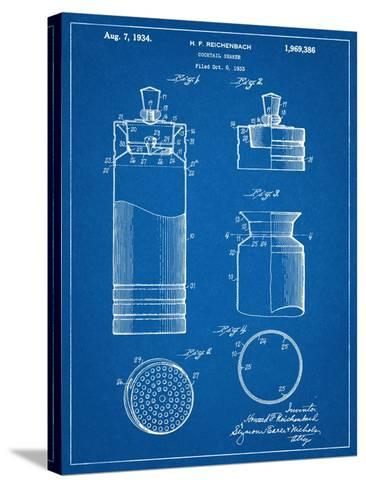 Cocktail Shaker Construction Patent--Stretched Canvas Print