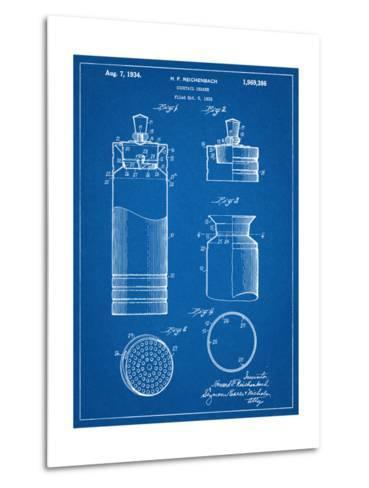 Cocktail Shaker Construction Patent--Metal Print