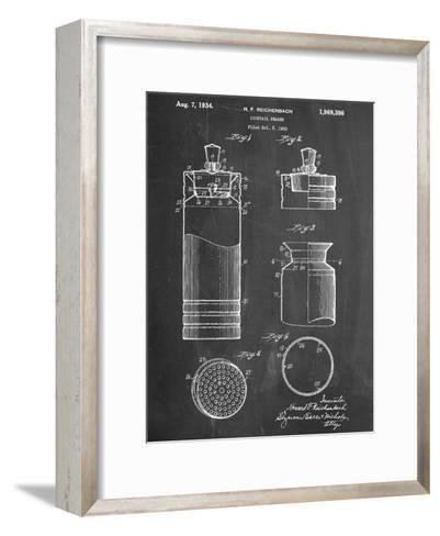 Cocktail Shaker Construction Patent--Framed Art Print