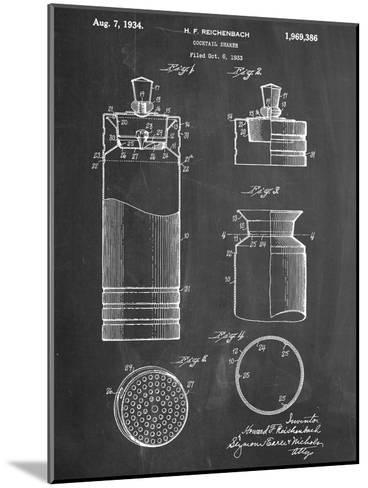 Cocktail Shaker Construction Patent--Mounted Art Print