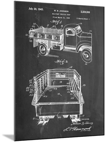 Military Vehicle Truck Patent--Mounted Art Print