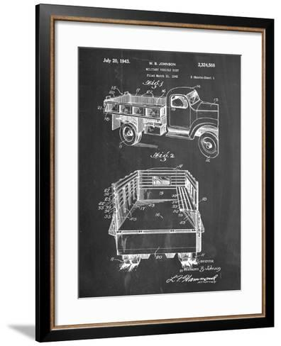 Military Vehicle Truck Patent--Framed Art Print