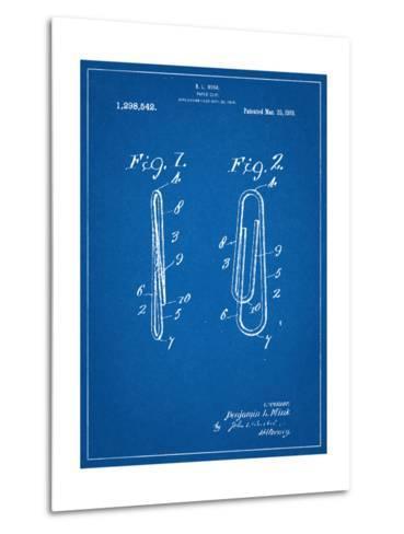 Paper Clip Patent--Metal Print