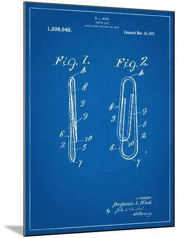 Paper Clip Patent--Mounted Art Print