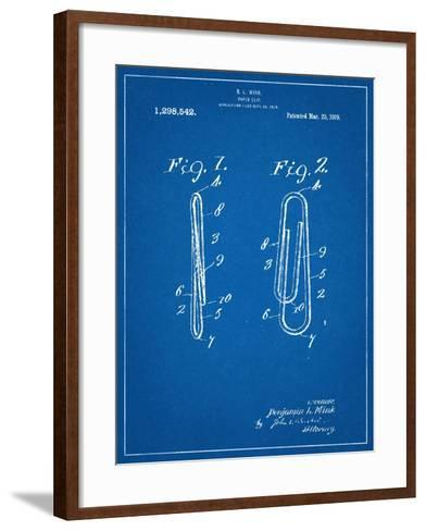 Paper Clip Patent--Framed Art Print