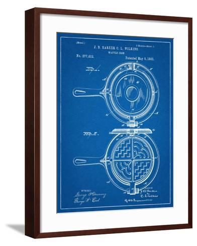Waffle Iron Patent--Framed Art Print