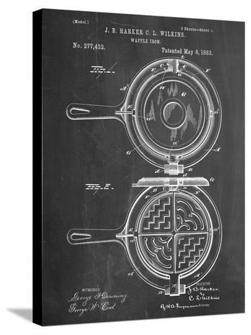 Waffle Iron Patent--Stretched Canvas Print