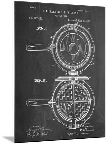 Waffle Iron Patent--Mounted Art Print