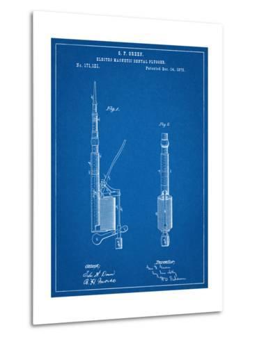 Dentists Drill Patent--Metal Print