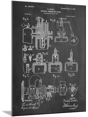 Diesel Engine Patent--Mounted Art Print