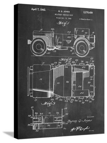 Willy's Jeep Patent--Stretched Canvas Print