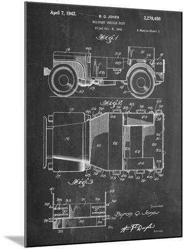 Willy's Jeep Patent--Mounted Art Print