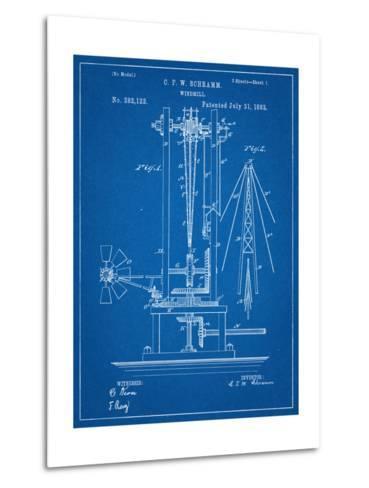 Windmill Patent--Metal Print